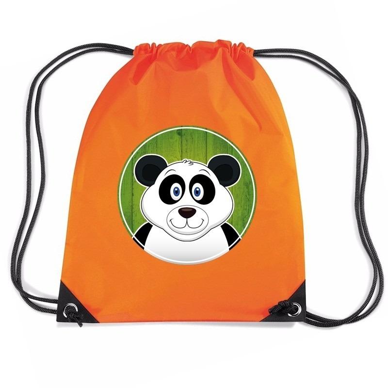 Panda rugtas / gymtas oranje voor kinderen