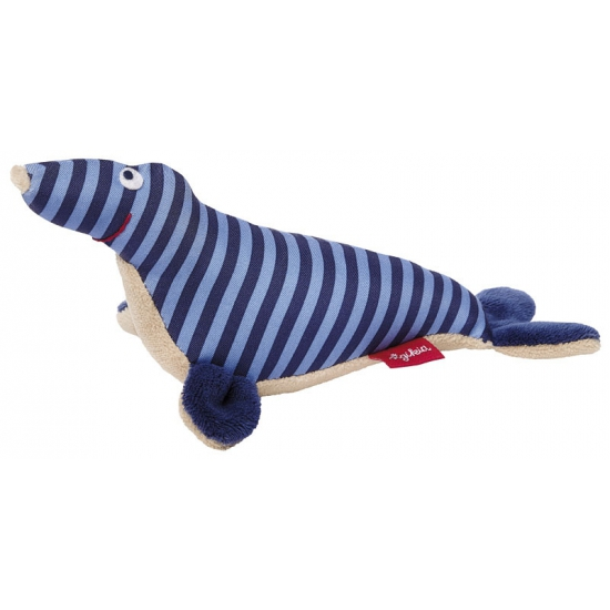 Pluche zeehondje blauw 19 cm
