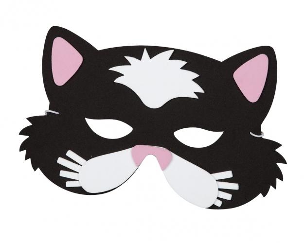 Katten oogmasker van foam. katten masker van foam met een elastiek waarmee u deze om kunt doen.