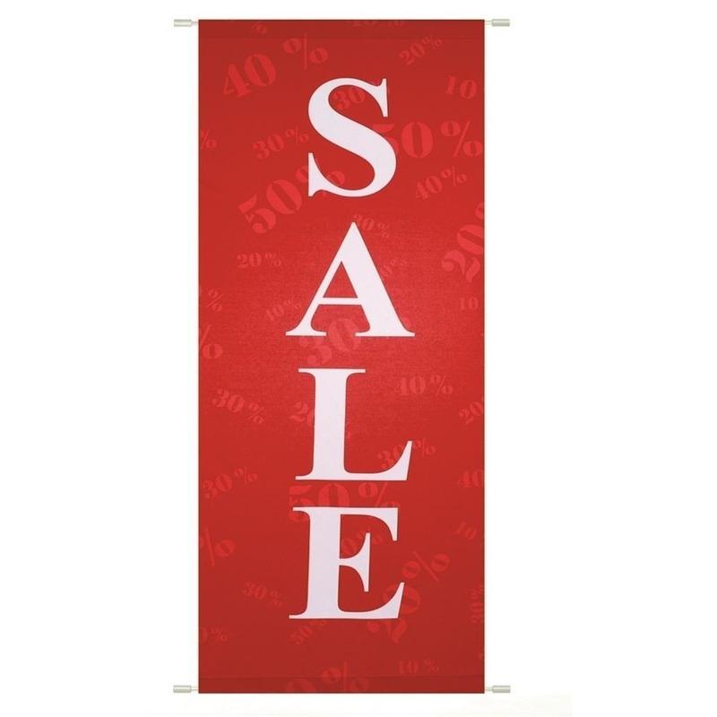 Rode sale banier 75 x 180 cm