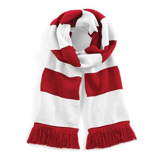 Rood met witte retro sjaal 182 cm