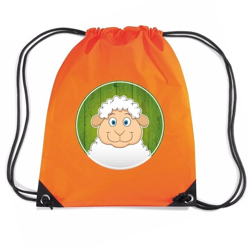 Schapen rugtas / gymtas oranje voor kinderen