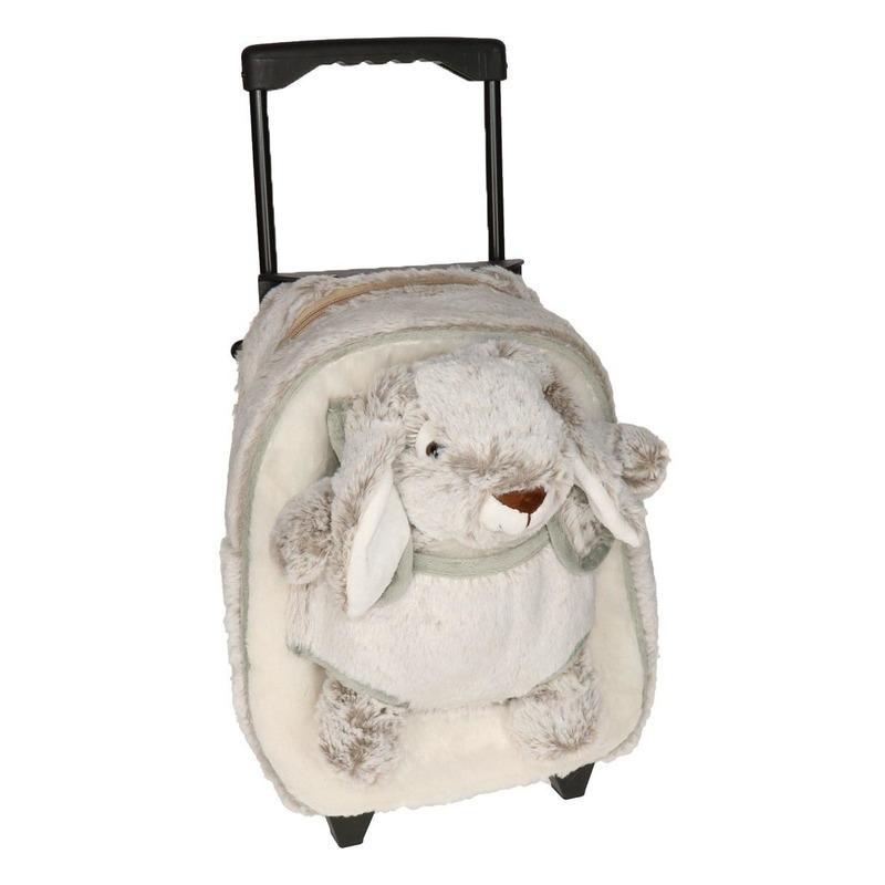 Schoolreisje koffer pluche haas