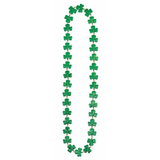 St. patricks day ketting met klavertjes drie. groene klavertjes drie ketting van ongeveer 91 cm lang....