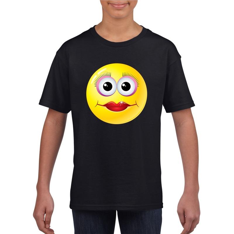 Smiley t-shirt diva zwart kinderen