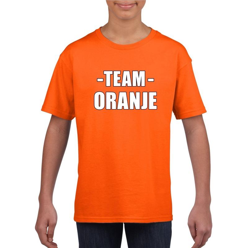 Sportdag team oranje shirt kinderen