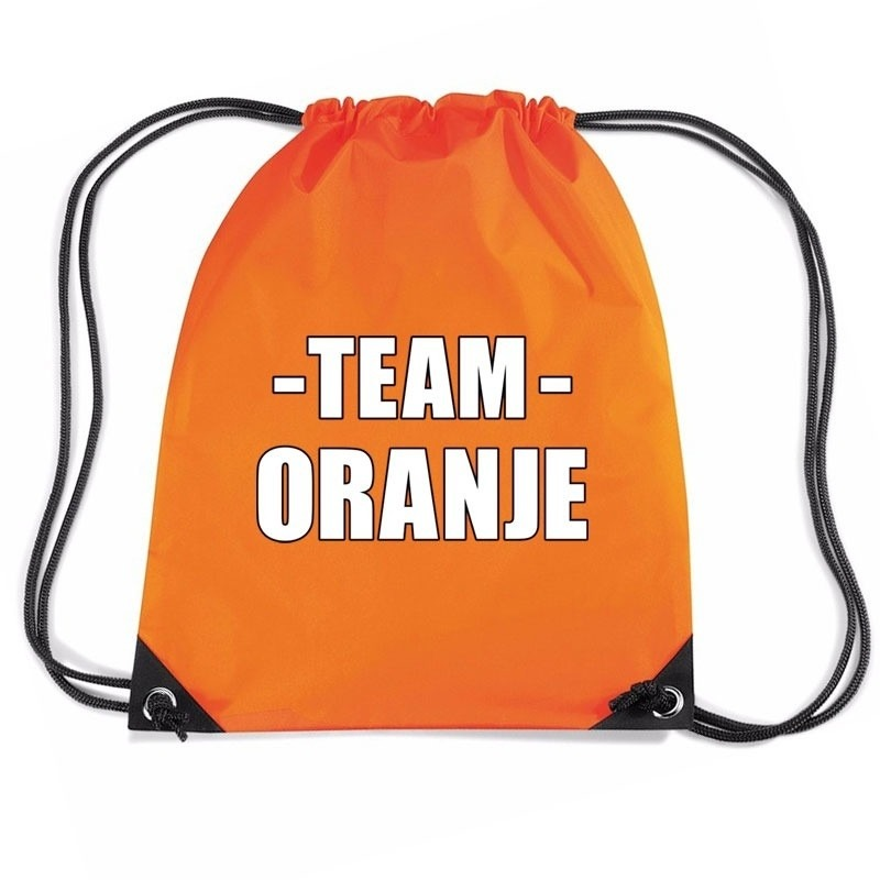 Team oranje rugtas voor training