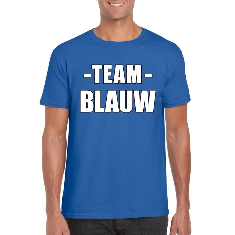 Team shirt blauw heren voor training