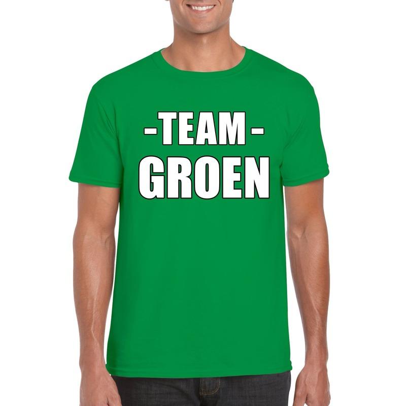 Team shirt groen heren voor training