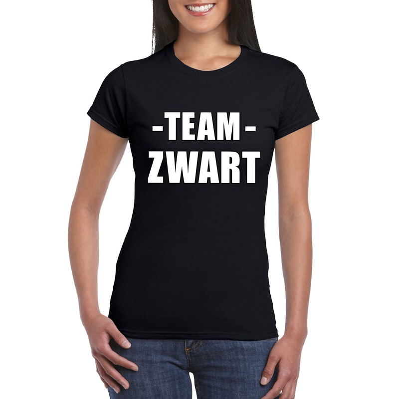 Team shirt zwart dames voor training