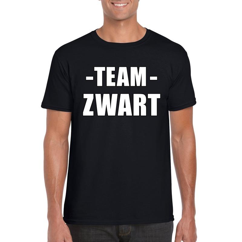 Team shirt zwart heren voor training