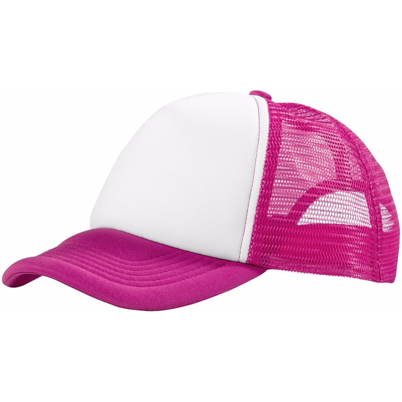 Truckers cap roze/wit