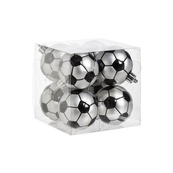 Voetbalfan cadeau kerstballen 6cm