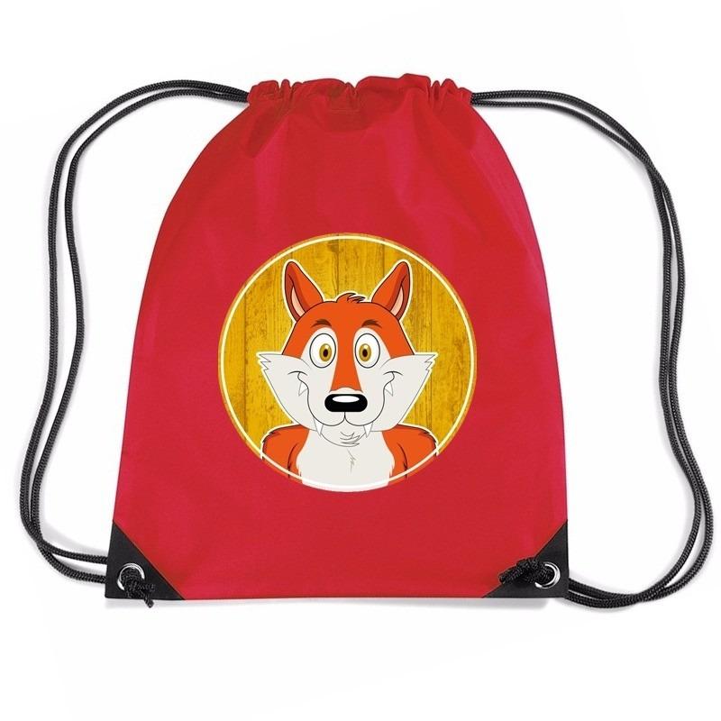 Vossen rugtas / gymtas rood voor kinderen
