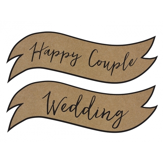Wandbordjes Happy Couple Wedding