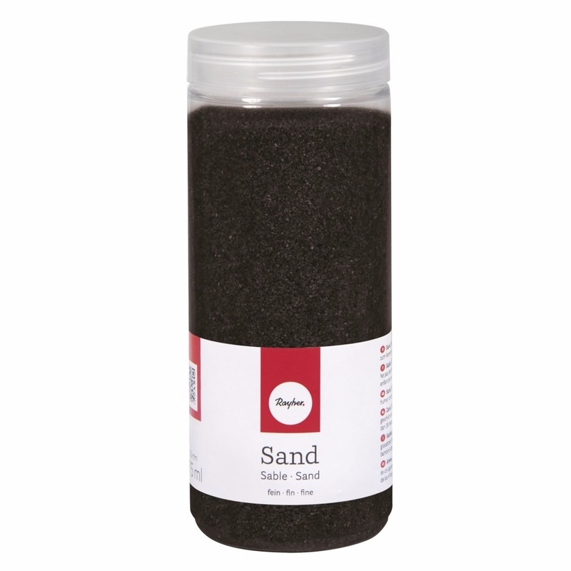 Zwarte versiering fijn zand
