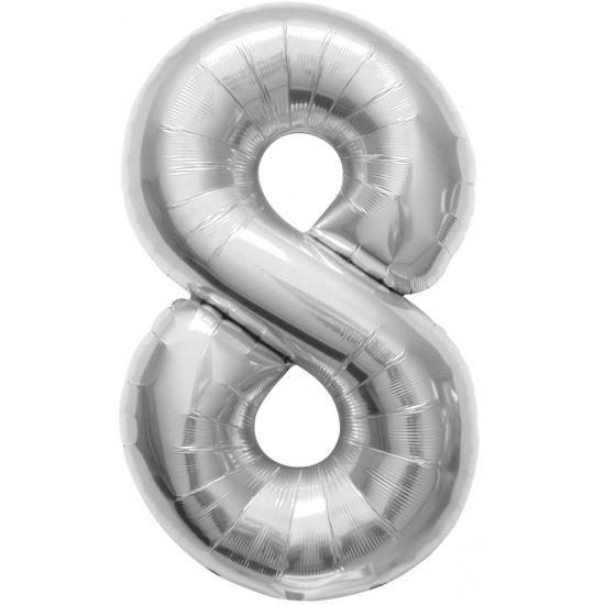 Cijfer 8 helium ballonnen zilver fopartikelen winkel voor de leukste fun fopartikelen - Deco slaapkamer jongen jaar ...