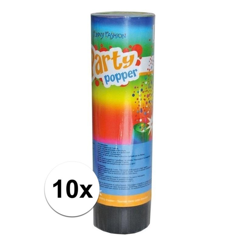 10x Party popper 15 cm