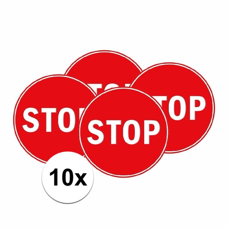 10x Slaapkamer sticker STOP 15 cm