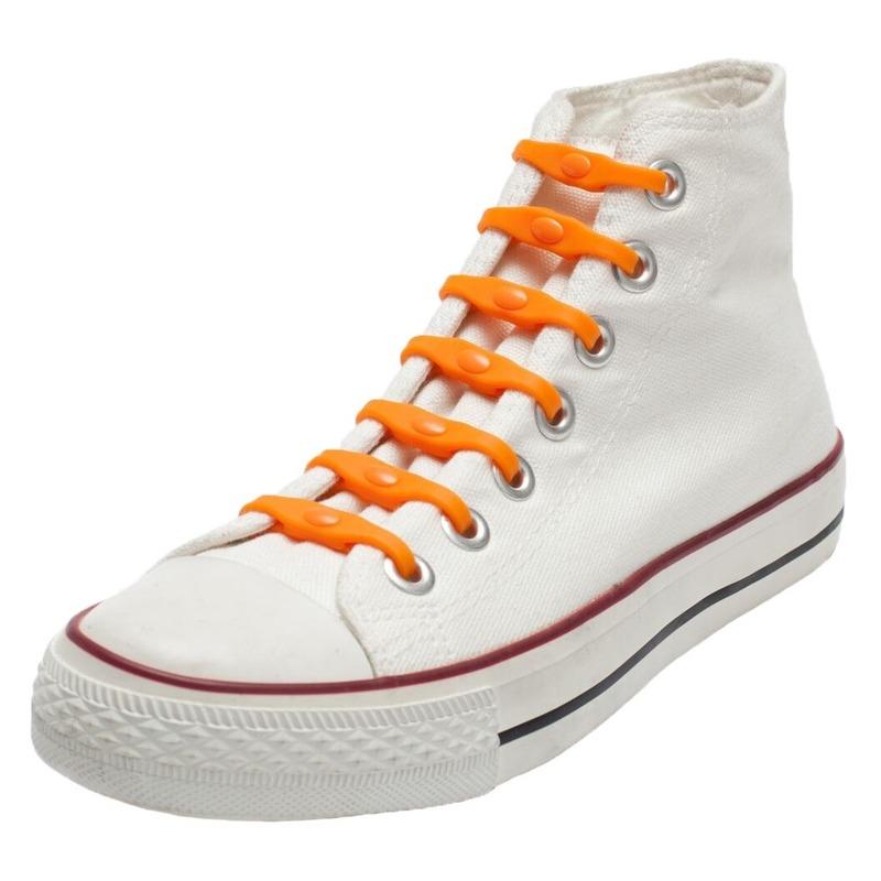 14x Shoeps elastische veters oranje voor kinderen/volwassenen
