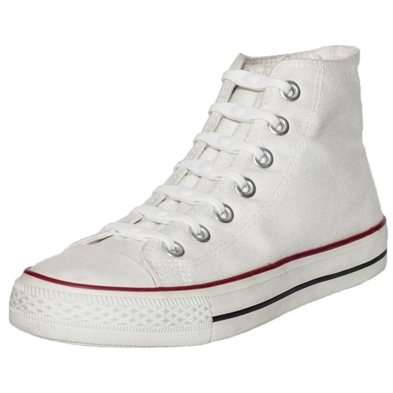14x Shoeps elastische veters wit/parel voor kinderen/volwassenen