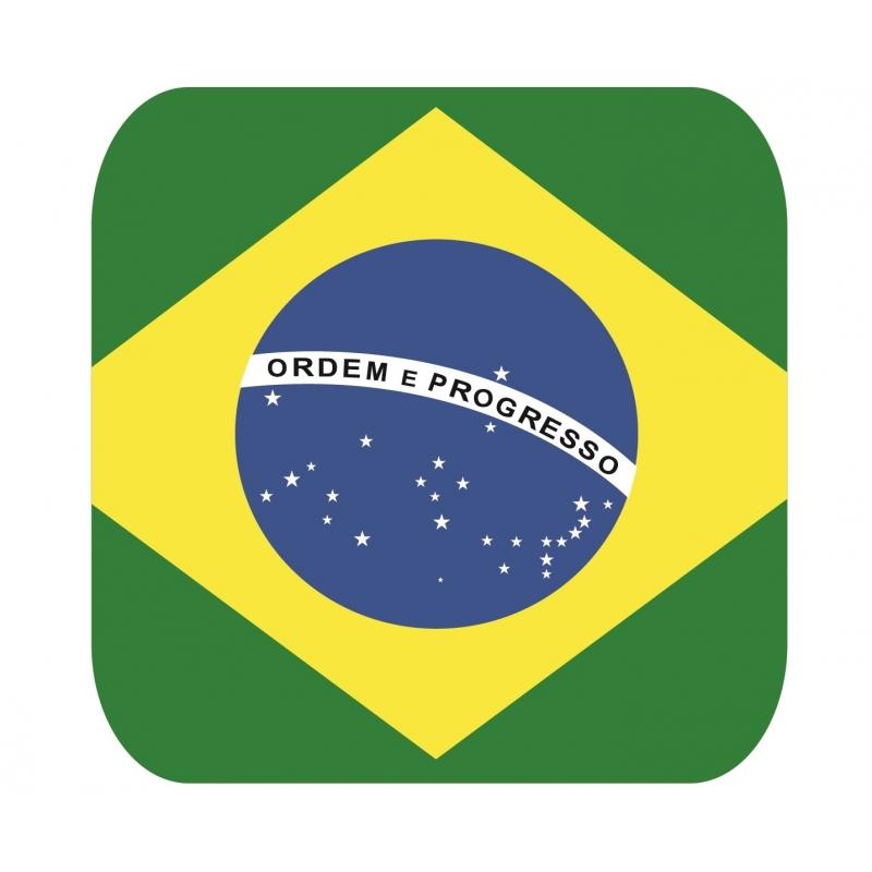 15 vierkante bierviltjes Brazili? thema