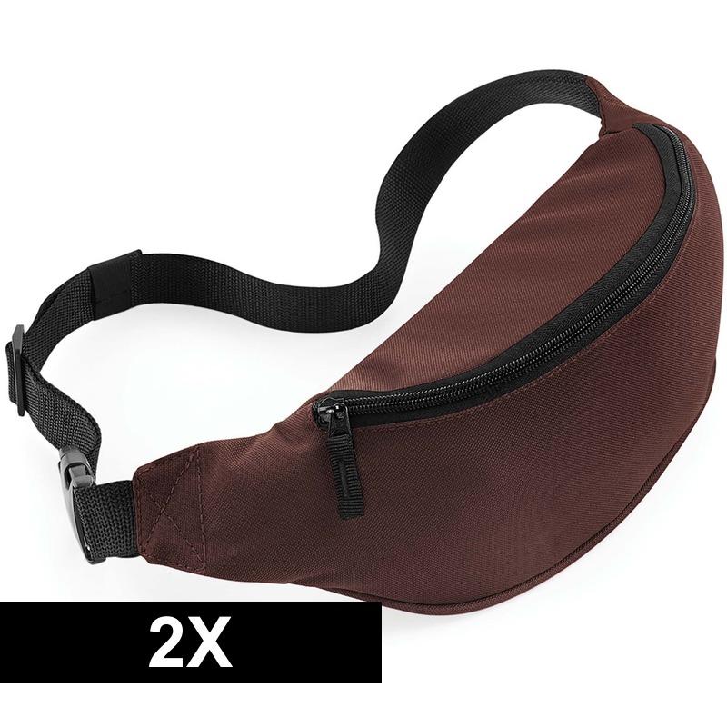 2x Reistasjes verstelbaar bruin 38 cm