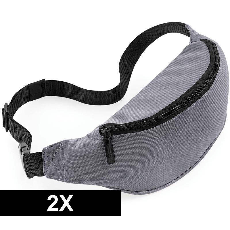 2x Reistasjes verstelbaar grijs 38 cm