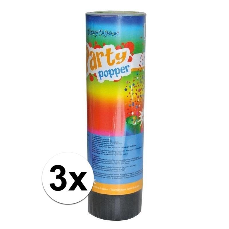 3x Party popper 15 cm