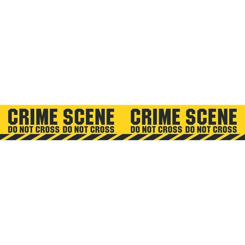 3x Plastic markeerlinten Crime Scene Do Not Cross 6 meter