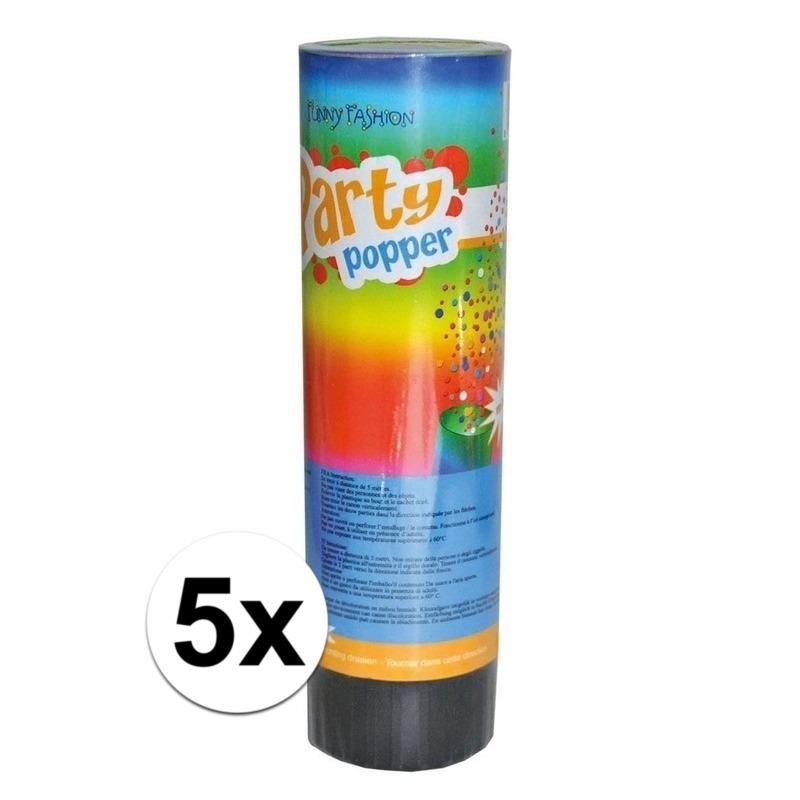 5x Party popper 15 cm