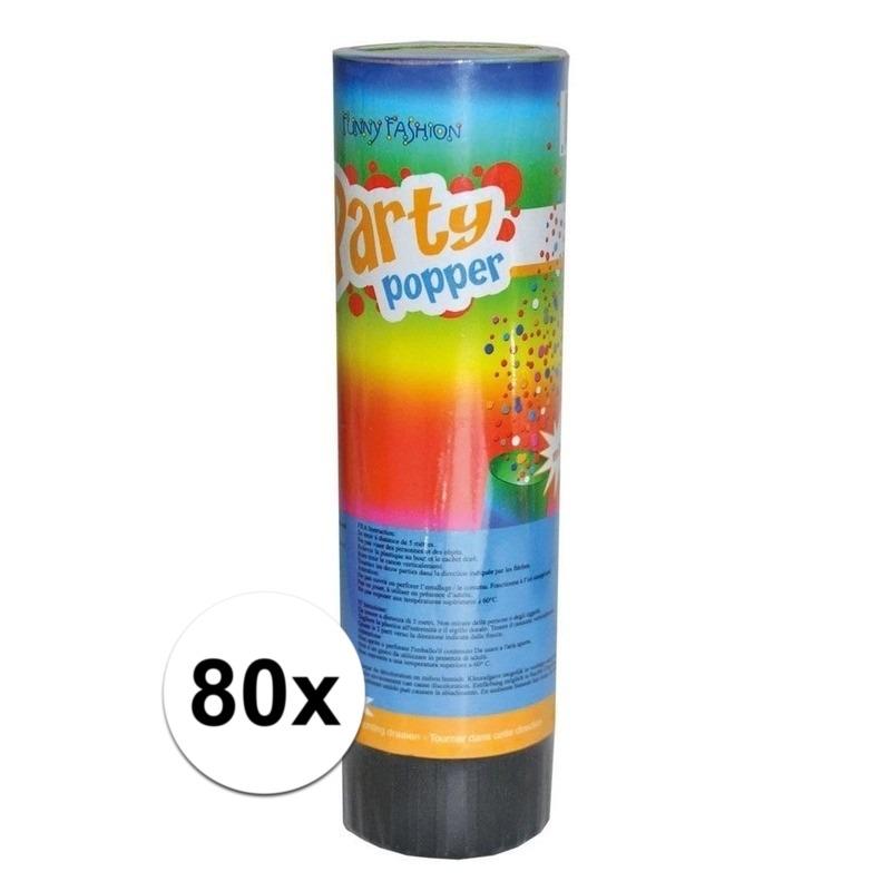 80x Party popper 15 cm