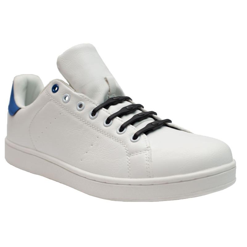 8x Shoeps XL elastische veters navy blauw brede voeten voor volw