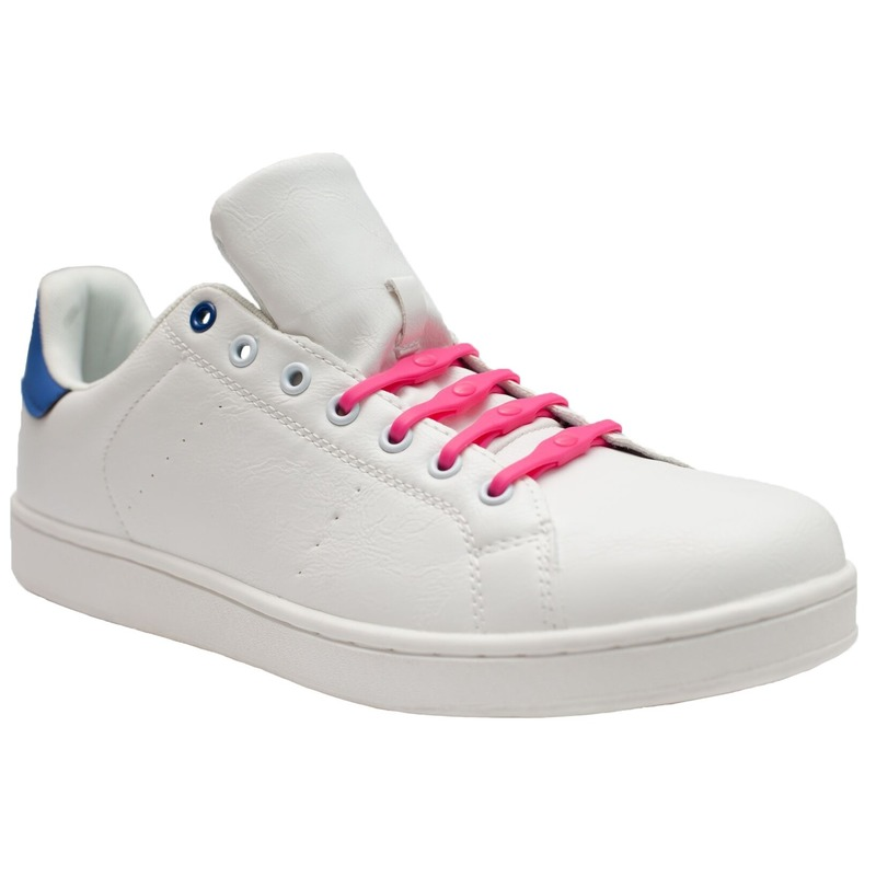 8x Shoeps XL elastische veters roze brede voeten voor volwassene