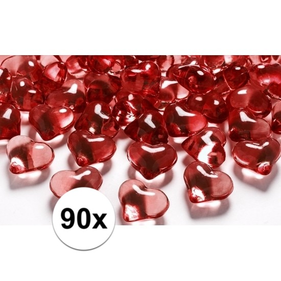 90 hart diamanten rood 2 cm