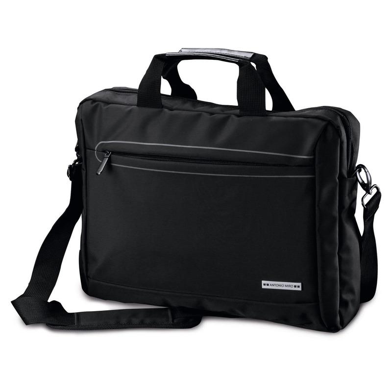Akte schoudertas/laptoptas 15,6 inch zwart 10 liter