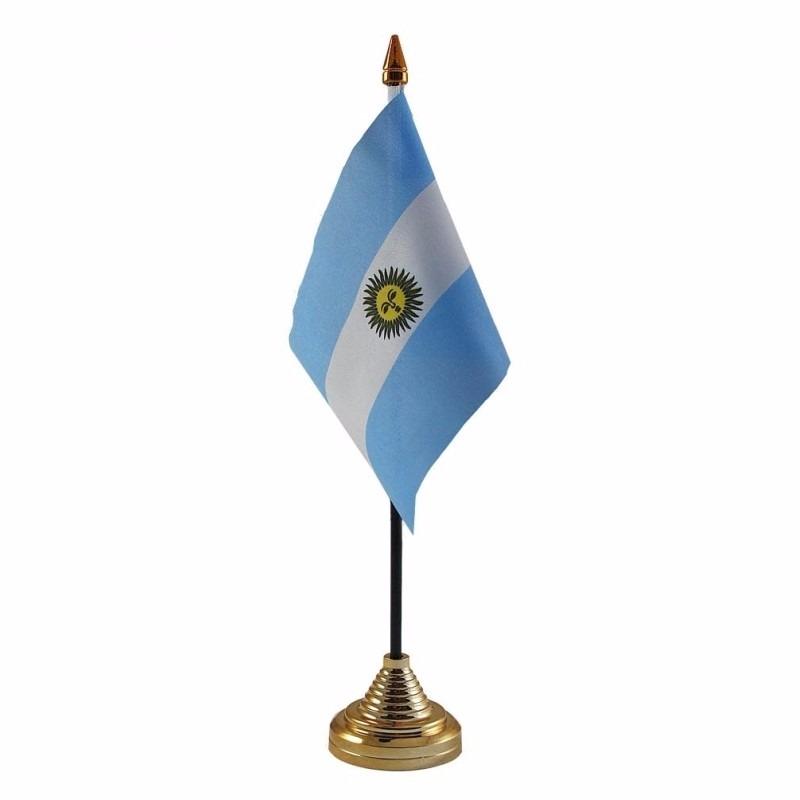 Argentinie tafelvlaggetje 10 x 15 cm met standaard