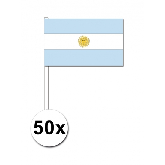 Argentinie zwaai vlaggetjes 50 stuks