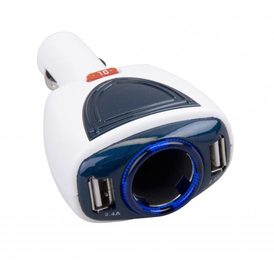 Autolader telefoon 2 USB poorten
