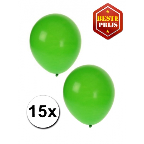Ballonnen groen per 15 stuks