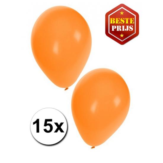 Ballonnen oranje per 15 stuks