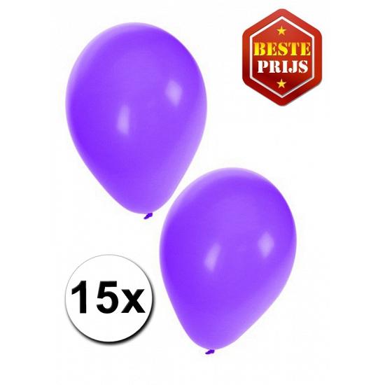 Ballonnen paars per 15 stuks