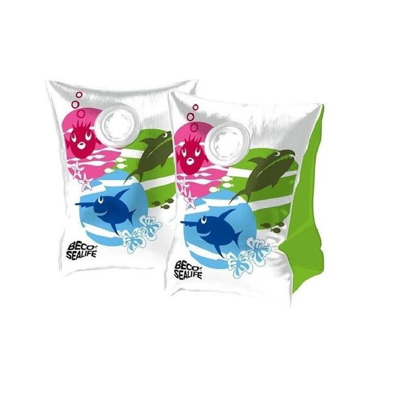 Beco vissen print zwembandjes maat 00 tot 15 kg