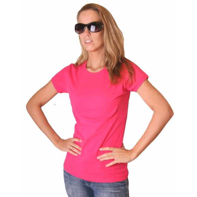 Bella t-shirt voor dames in fuchsia roze