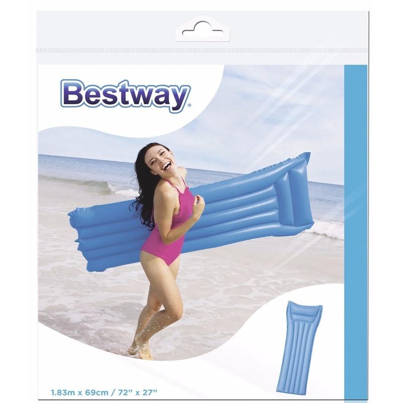 Bestway basic blauw luchtbed 183 cm