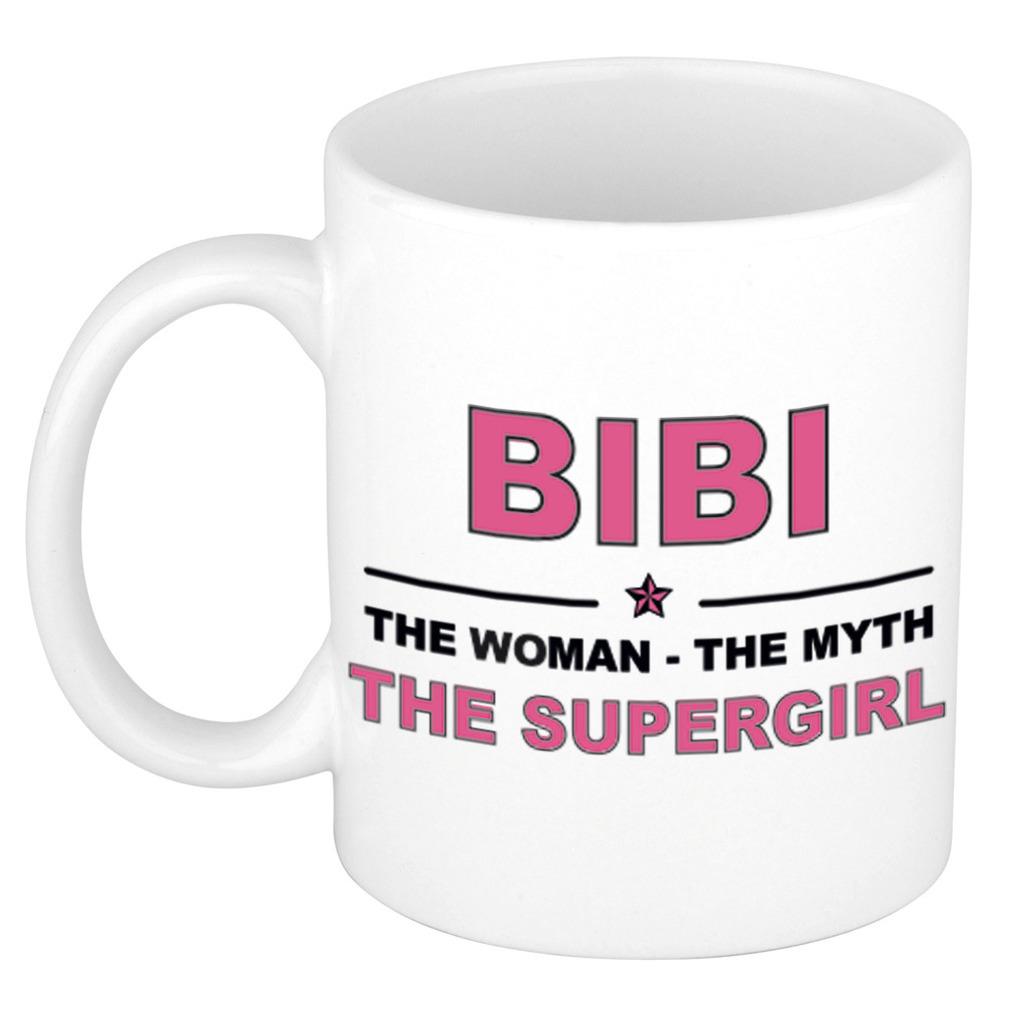 Bibi The woman, The myth the supergirl pensioen cadeau mok-beker 300 ml