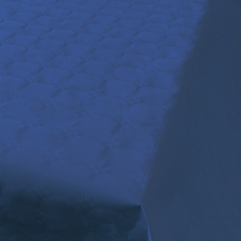 Blauw tafelkleed op rol 800x118cm