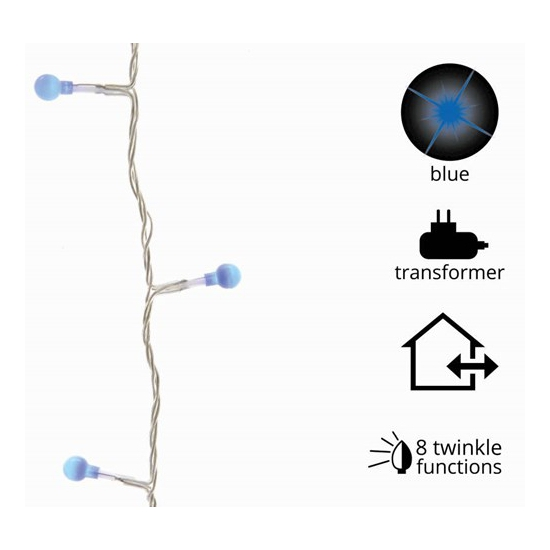 Blauwe kerstverlichting 80 L twinkle