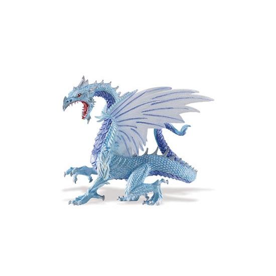 Blauwe plastic draken 15 cm