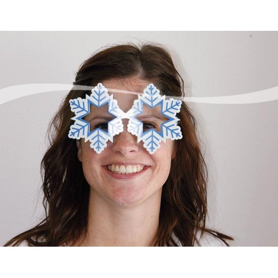 Bril in de vorm van een sneeuwvlok
